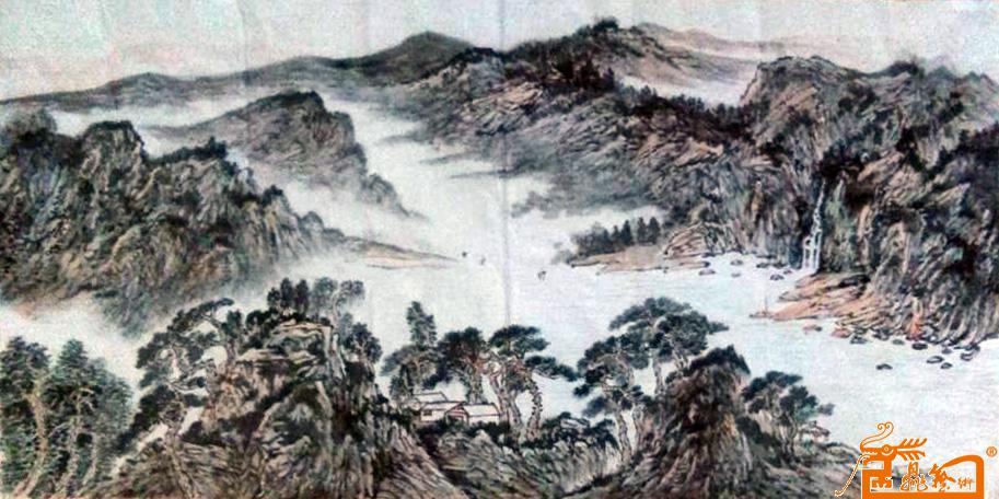 张海胜山水画作品赏析 用虚实相映的墨彩诠释锦绣山水